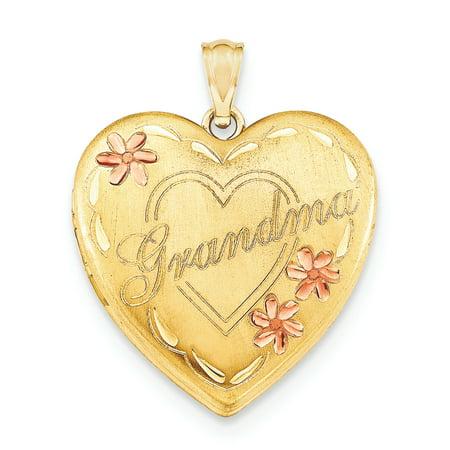 1/20 Gold Filled Grandma 23mm Enameled Heart Locket QLS118 (23mm x 23mm) - image 1 de 3