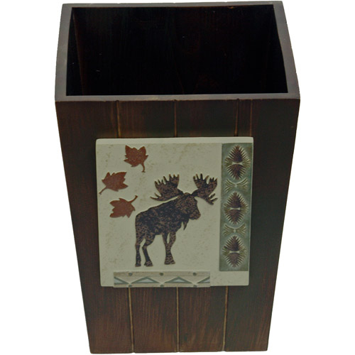 Bacova Guild Big Country Wastebasket, Brown