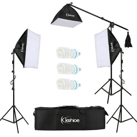 UBesGoo 65W Photography Studio Softbox Continuous Lighting Soft Box Light Stand Kit Set