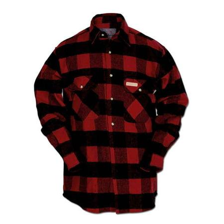 Buffalo Plaid Flannel - Hickory Shirt Co. Buffalo Flannel Button Plaid Shirt, Tall