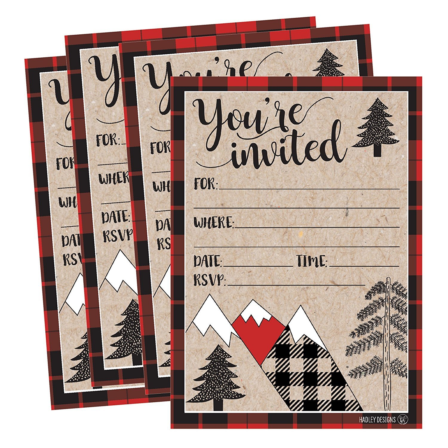 25 Woodland Party Invitations, Winter Bridal or Baby Shower Invite, Holiday Snowflake Birthday Invitation Wedding Rehearsal Dinner Invites, Bachelorette Reception Anniversary, Housewarming