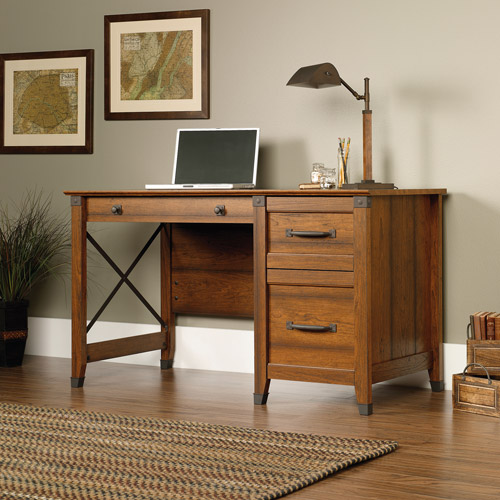 Sauder Carson Forge Desk, Washington Cherry