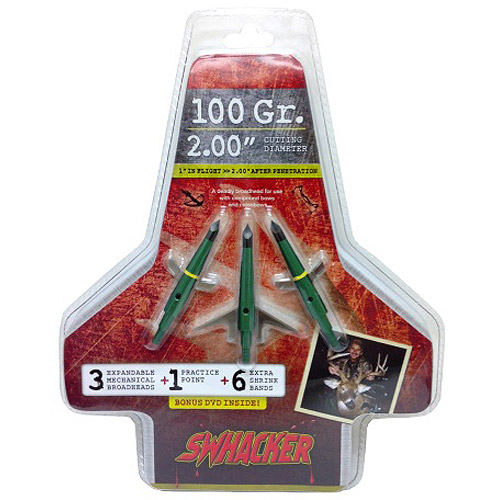 Swhacker Set of 3-100 Grain 2 Inch Cut Broadheads