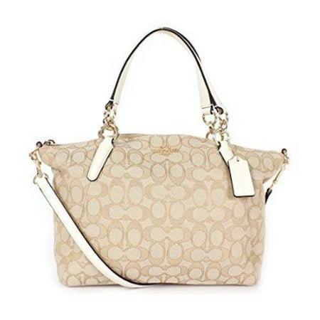 NEW COACH (F27580) SIGNATURE LIGHT KHAKI CHALK MINI KELSEY SATCHEL BAG (Prana Womens Chalk Bag)