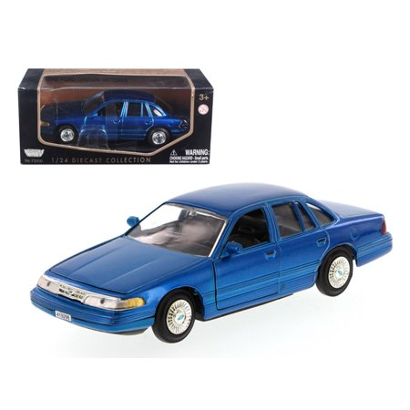 1998 Toy - 1998 Ford Crown Victoria Blue 1/24 Diecast Model Car by Motormax