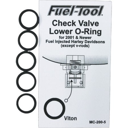 Fuel Tool EFI Check Valve Lower O-Ring, 5pk (Lower Valve Cover)