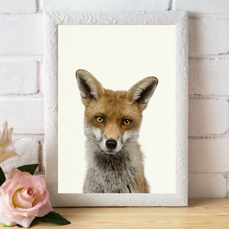 Baby Woodland Fox - Nursery Wall Décor Farm Baby Animal Art Print - Woodland Fox