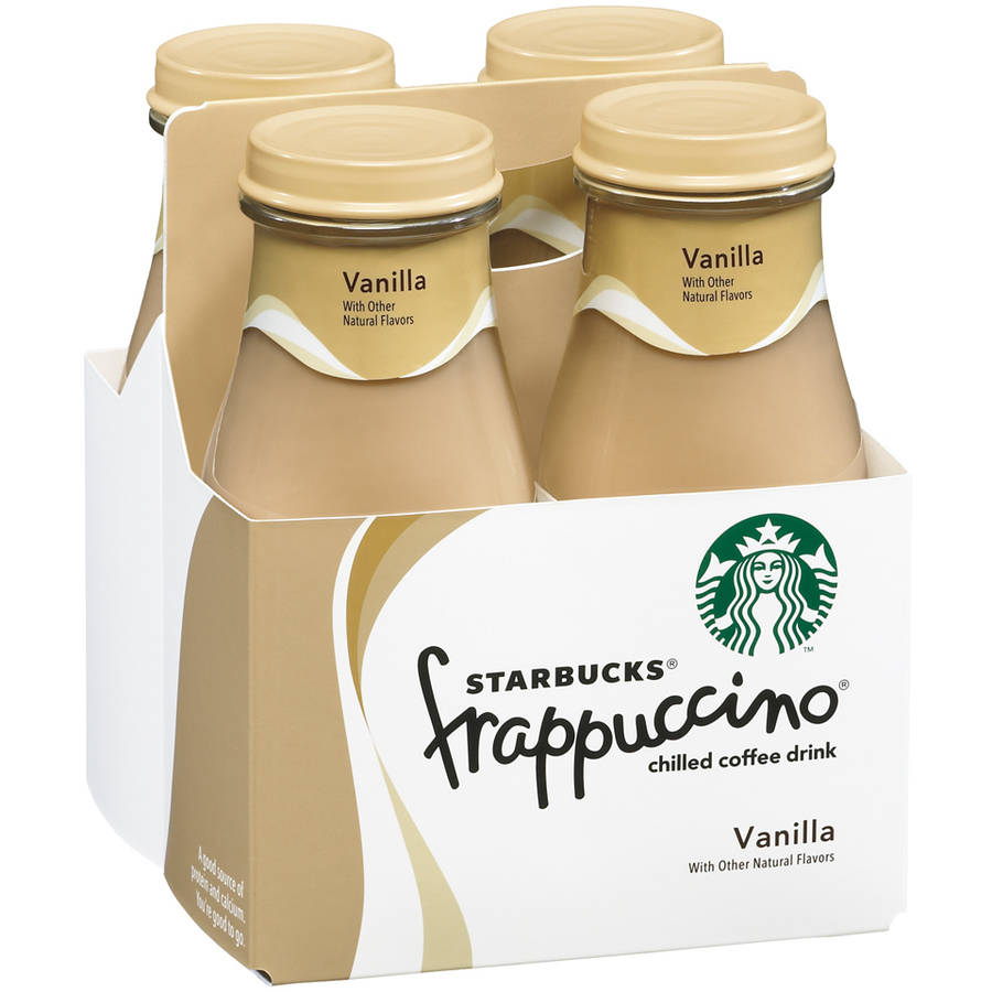 Starbucks Frappuccino Vanilla Chilled Coffee Drink, 9.5 fl oz, 4 pack