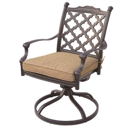 darlee camino real swivel patio chair in antique bronze