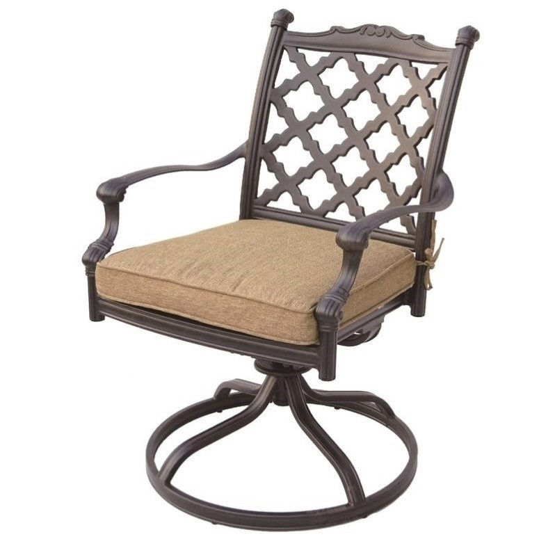darlee camino real swivel patio chair in antique bronze set of 2 - Swivel Patio Chairs