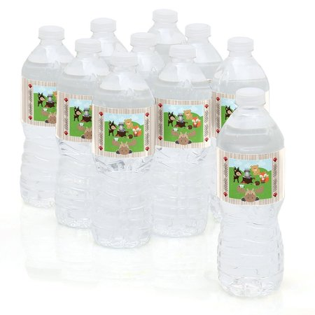 Woodland Creatures - Party Water Bottle Sticker Labels - Set of 10
