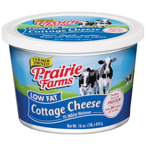 Prairie Farms Low Fat Cottage Cheese, 16 Oz.