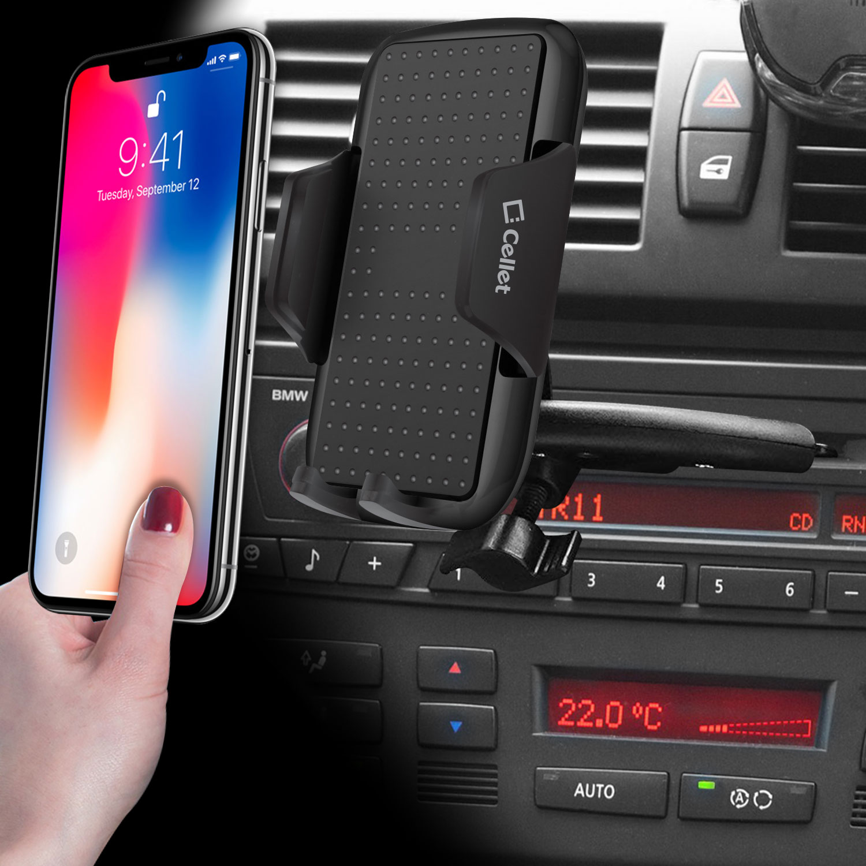 Car Dash Mount w//360 Degree Rotation Cellet Premium Air Vent Holder for CAT S48C Smartphone /& Similar Size Smartphones