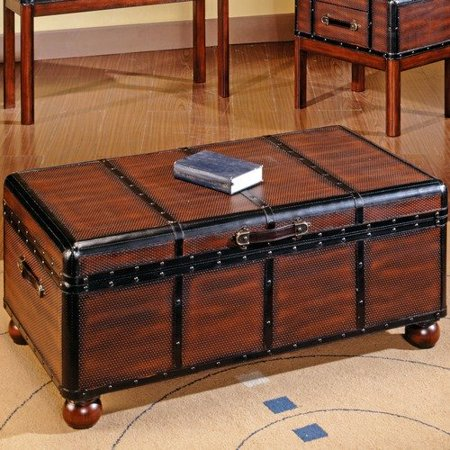 Steve Silver Furniture Pacific Trunk Coffee Table With Lift Top