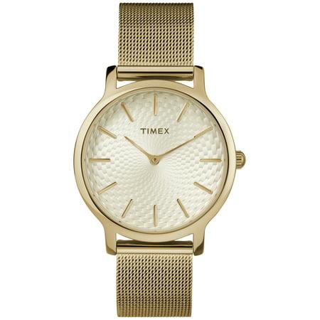 - Women's Metropolitan 34mm Gold-Tone Watch, Stainless Steel Mesh Bracelet