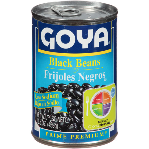 Goya Black Beans, 15.5 oz, (Pack of 24)