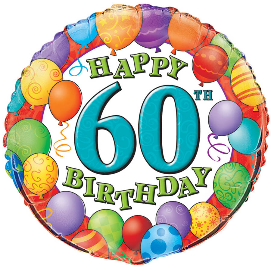 "18"" Foil 60th Birthday Balloon"