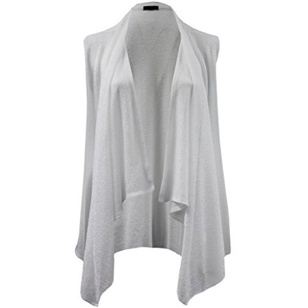 5128ccd2532f33 Dreamer P - Plus Size Women s Sleeveless Open Front Cardigan Knit Vest Top Sweater  White 3X (16.033) - Walmart.com