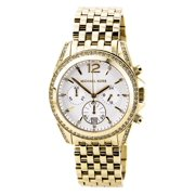 MK5835 Womens Pressley Mid-Size Golden Stainless Steel Chronograph Glitz Watch