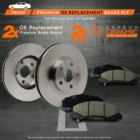 Max Brakes Front Premium OE Rotors and Ceramic Pads Brake Kit | KT117641-11 - image 6 de 8