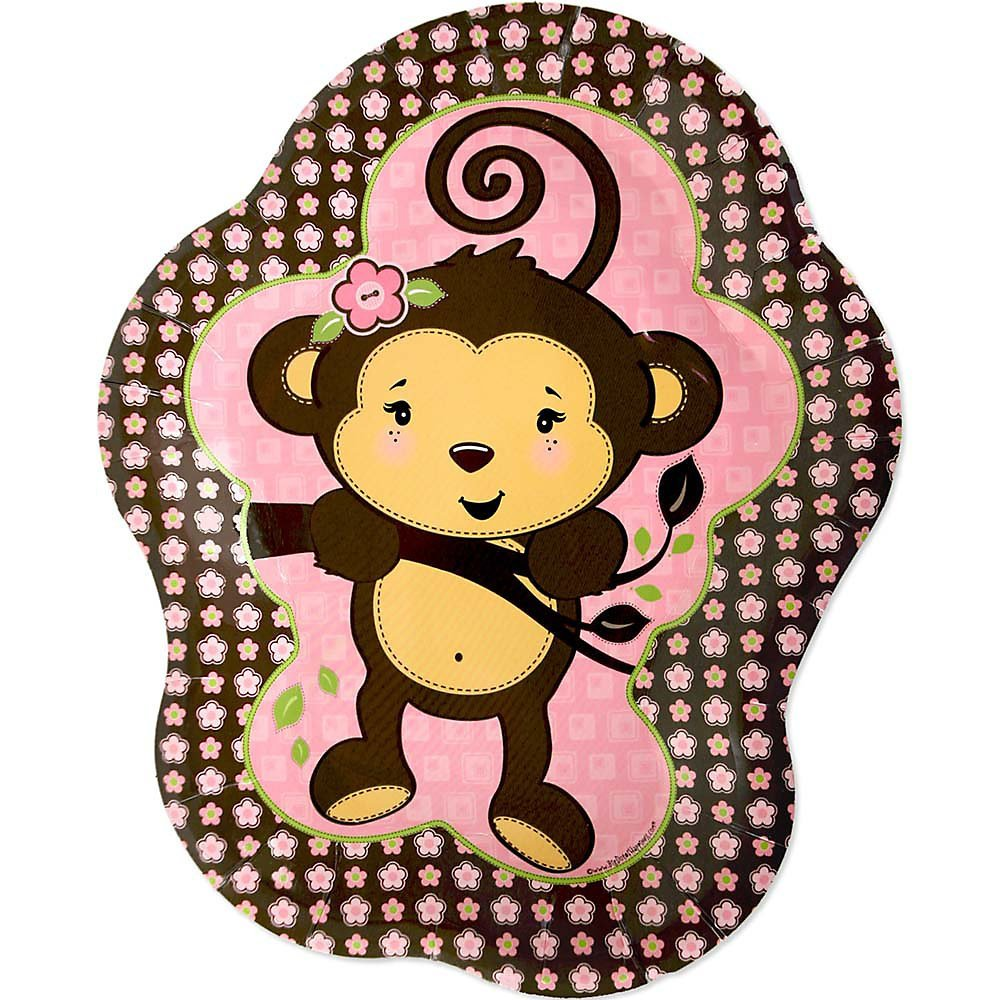 Monkey Girl - Party Dinner Plates (8 count)
