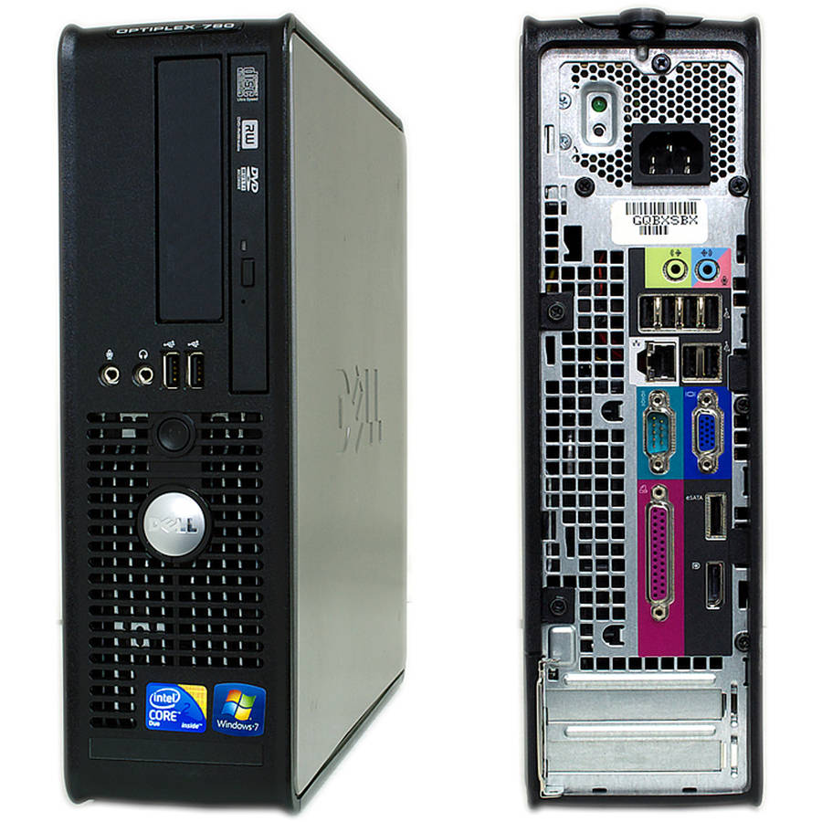 Refurbished Dell 780 SFF Desktop PC with Intel Core 2 Duo Processor, 4GB Memory, 250GB Hard Drive and Windows 10 Home (Monitor Not Included)