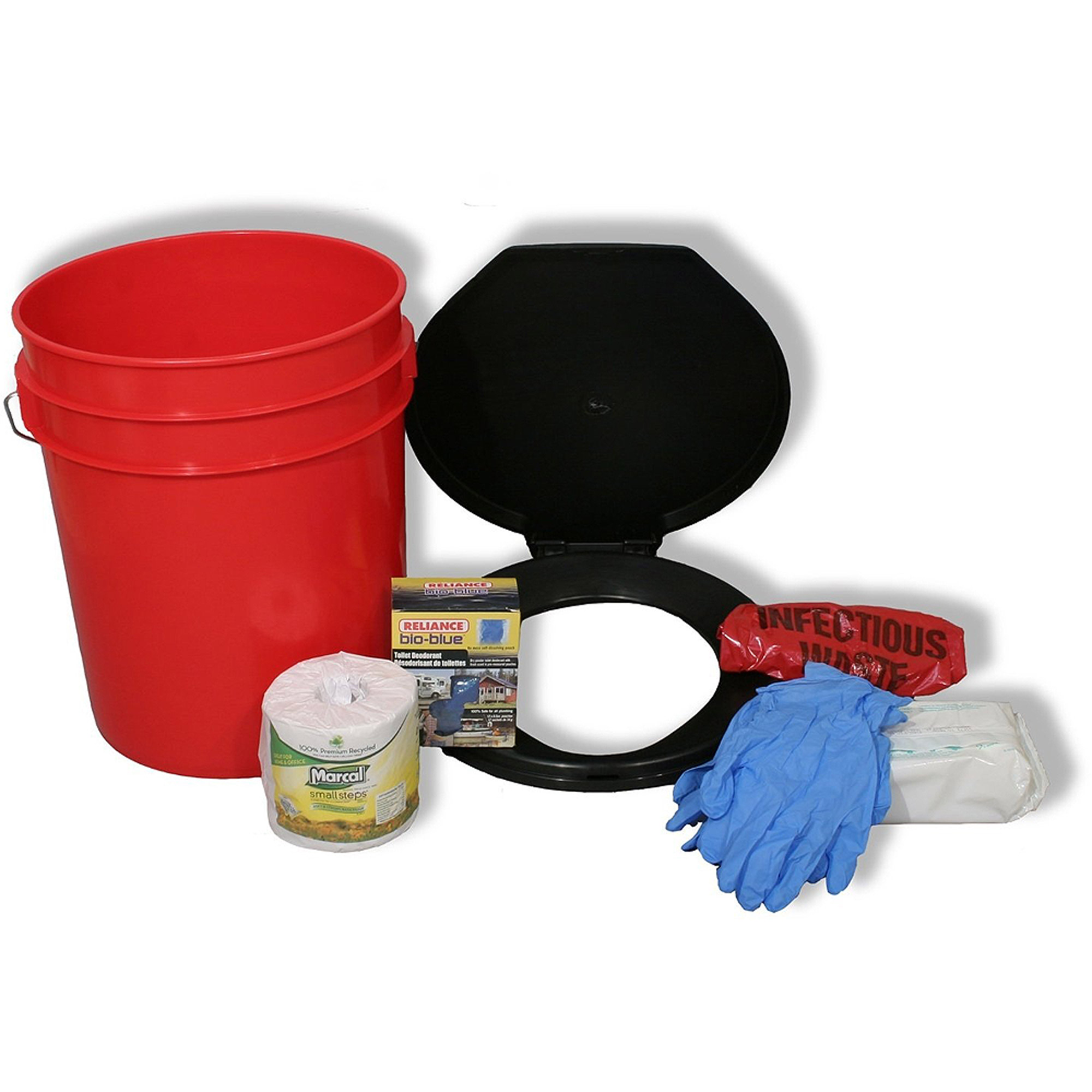 Ready America Lockdown Toilet Bucket Kit 1 4 Person