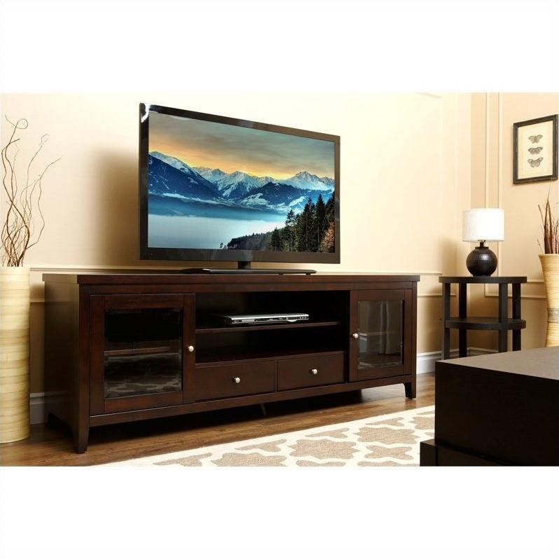 """Abbyson Living Harper-Lee 72"""" Wood TV Stand in Espresso"""