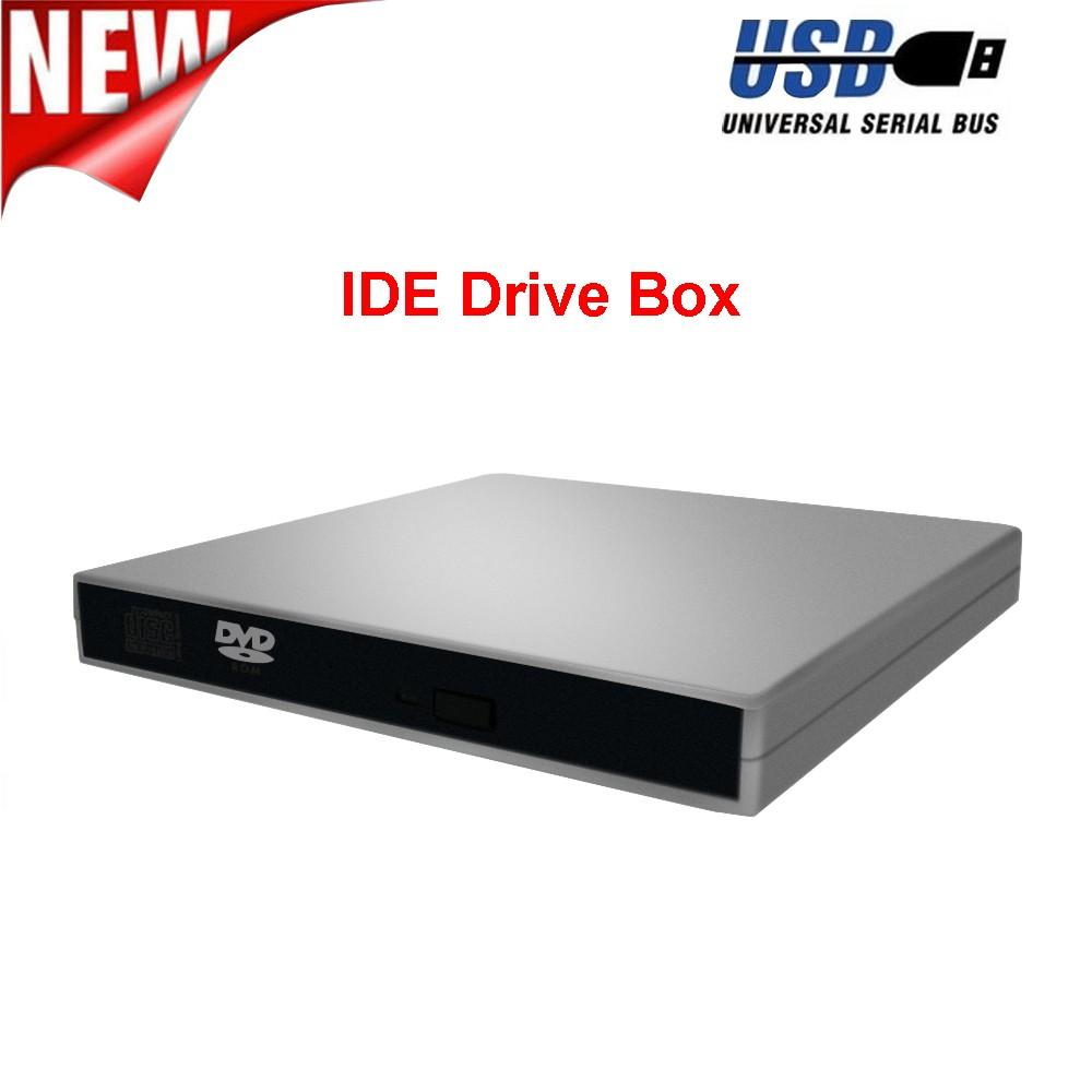 USB IDE Laptop Notebook CD DVD RW Burner ROM Drive External Case Enclosure