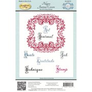 """JustRite Papercraft Cling Stamps 5.5""""X8.5""""-Filigree Journal Covers"""