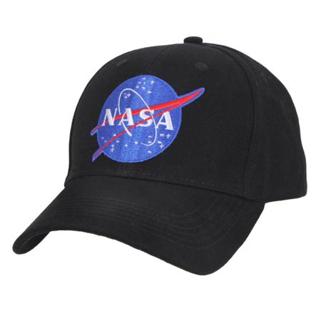 Rothco NASA Low Pro Cap, Space Exploration Low Profile Cap, Black, OSFM
