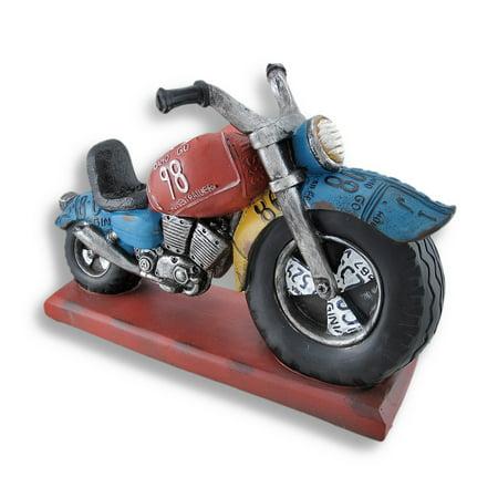 - Big Wheel Motorcycle Sculpture Bottle Holder Display