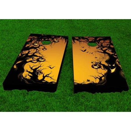 Custom Cornhole Boards Scary Forest Halloween Theme Cornhole Game (Set of 2)
