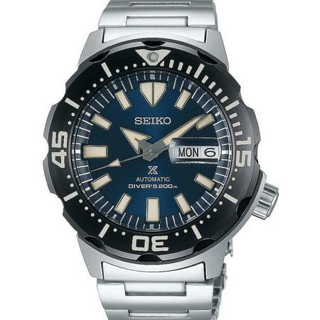 Seiko Automatic Prospex Monster Blue Dial Divers 200m Men's Watch Srpd25