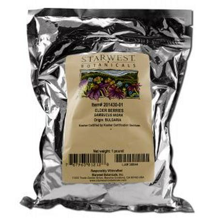 Starwest Botanicals - Medicinal Herbs 1 lb, Elder Berries