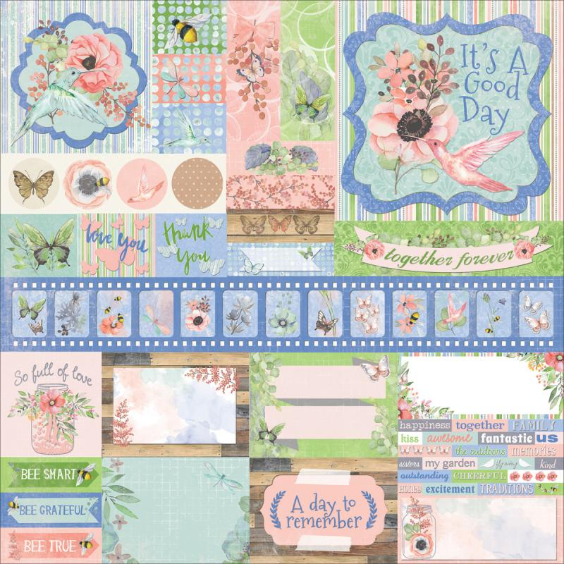 "Butterfly Kisses Combo Stickers 12""x12""-"
