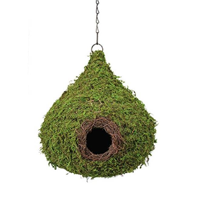 Galapagos Pet Supply 56010 10 x 13 in. Raindrop Woven Birdhouse Fresh Green, Case of 6 by Galapagos Pet Supply