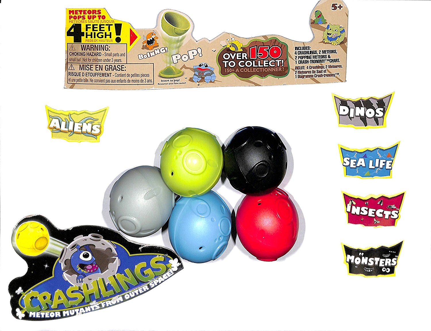 Crashlings Series 1- 76 capsules 8-Dinos,16 Sea Life,4 Monsters & 48 Insects by Wicked Cool Toys