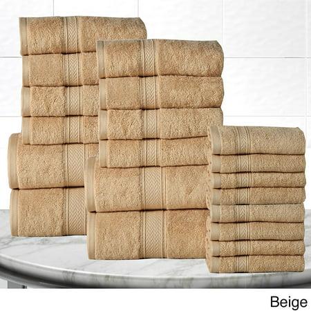 Casa Platino Soft And Luxurious Cotton 600 Gsm 20 Piece Towel Set