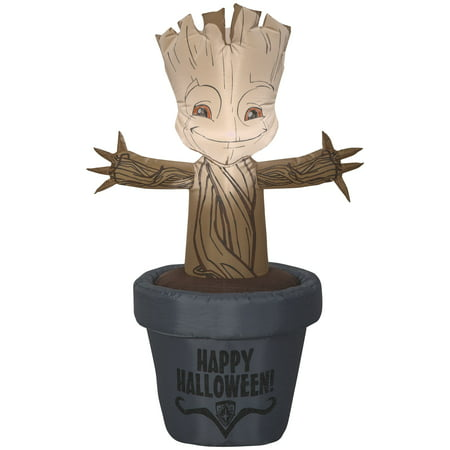 3.5' Marvel Airblown Baby Groot Halloween Inflatable (Halloween Airblown Inflatables)