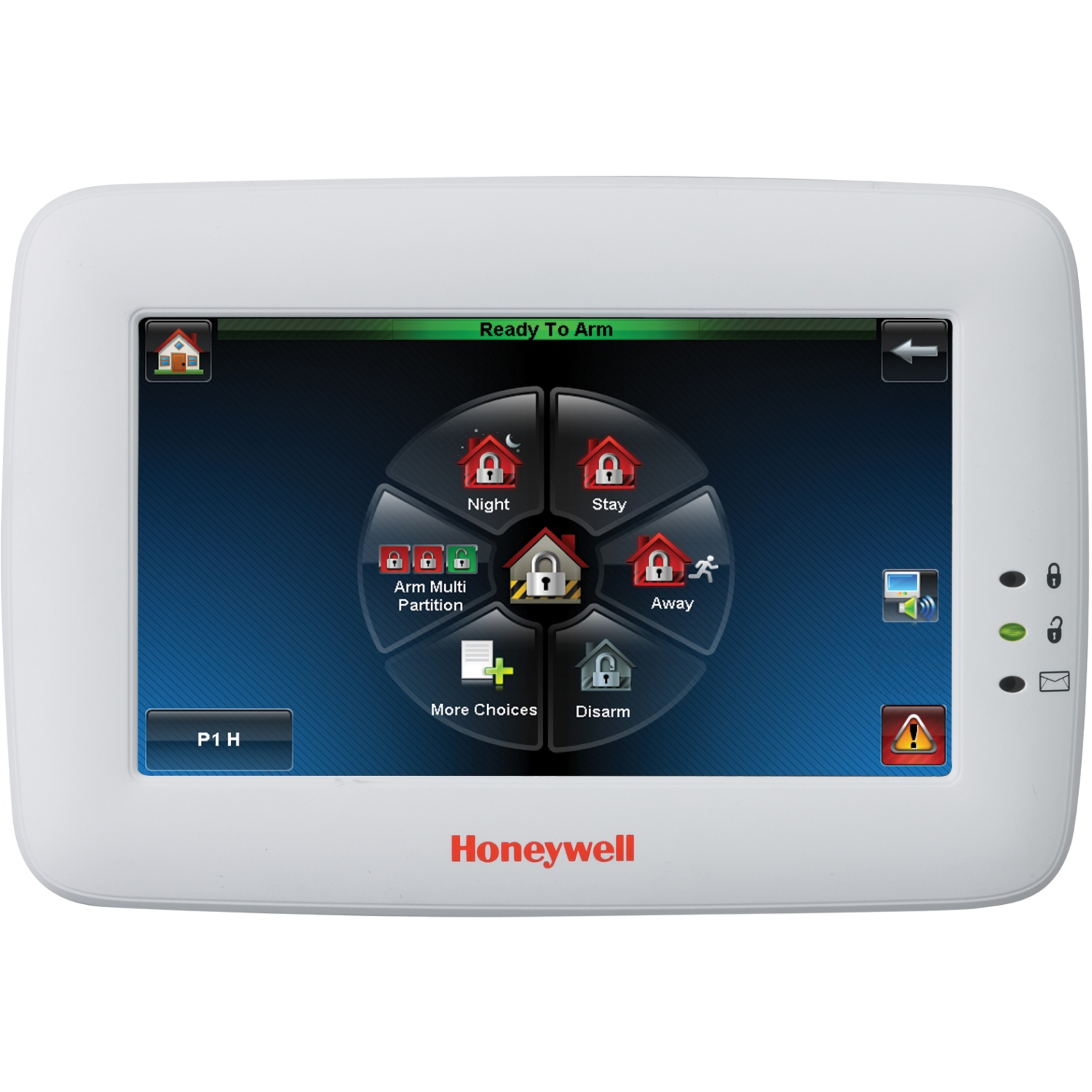 "Honeywell Intrusion 6280W Graphic,7"" Display Keypad,Touch Center - White"