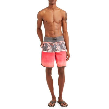 George Men's Triblock Eboard 8-inch Swim Short with Dolphin Hem, Up to size (Mens Swimsuits)