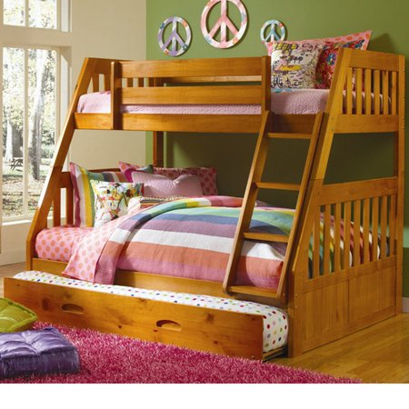 cambridge stanford twin over full bunk bed with twin slide out trundle. Black Bedroom Furniture Sets. Home Design Ideas