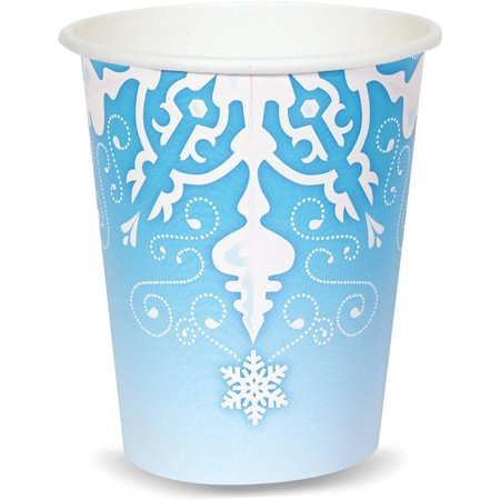 Snowflake Winter Wonderland 9 oz. Cups (8) - Winter Wonderland Decor Ideas For Parties