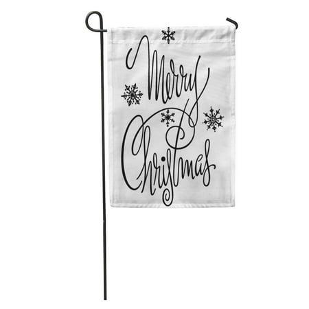 SIDONKU Vintage Merry Christmas Retro Clipart Clip 1950 50S Fifties Script Garden Flag Decorative Flag House Banner 12x18 (Checkered Flag Clipart)