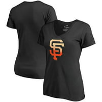 San Francisco Giants Fanatics Branded Women's Plus Size Gradient Logo T-Shirt - Black