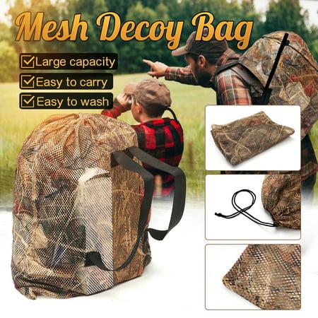 "37""x29"" Polyester Mesh Mesh Duck Goose Decoy Bag Bird Hunting Hunter Large Capacity Backpack Outdoor thumbnail"