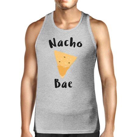 Nacho Bae Men's Grey Tank Top Unique Design Cute Couple Shirt Ideas - Cute Couples Ideas For Halloween