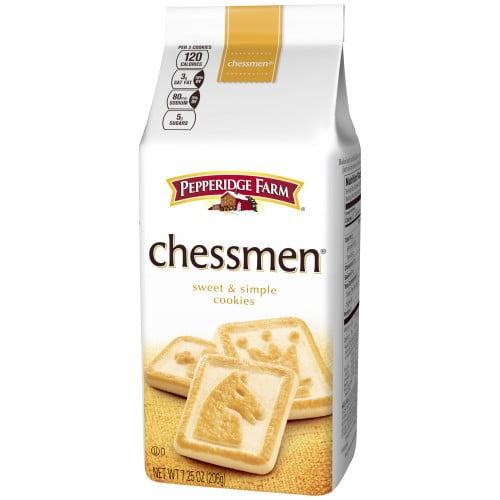 (2 Pack) Pepperidge Farm Chessmen Butter Cookies, 7.25 oz. Bag