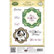 """JustRite Papercraft Cling Stamps 5.5""""X8.5""""-Christmas Labels 22"""